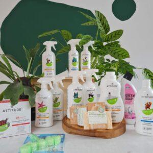 Box lenteschoonmaak met verschillende producten