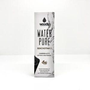 Woody water pure houtskool in verpakking