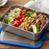 Klean Kanteen food box set burrito bowl meal prep on lid offset overhead